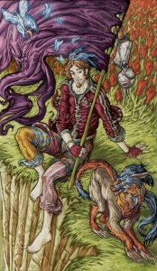 The-Fool-Tarot-Card-Universal-Fantasy-Tarot-Deck-174x300
